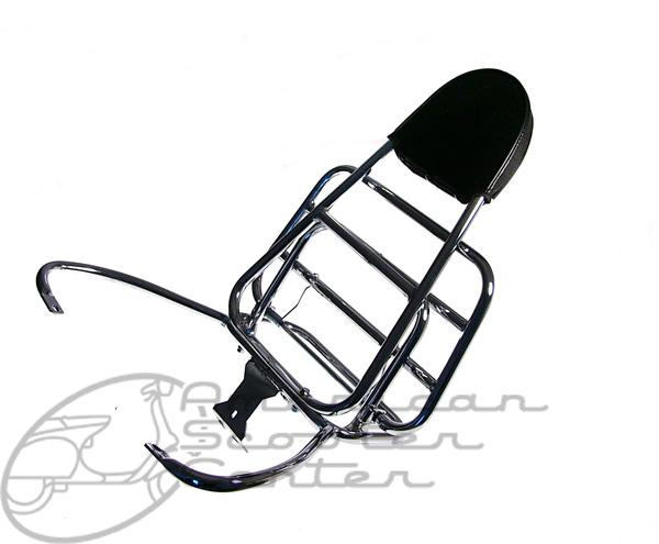 GTS Cuppini rear rack with backrest - Click Image to Close