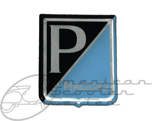 Piaggio Legshield badge Plastic - Click Image to Close