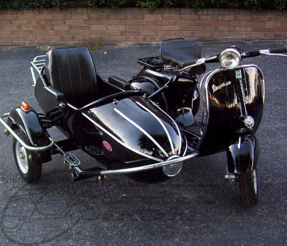 classic scooter with sidecar